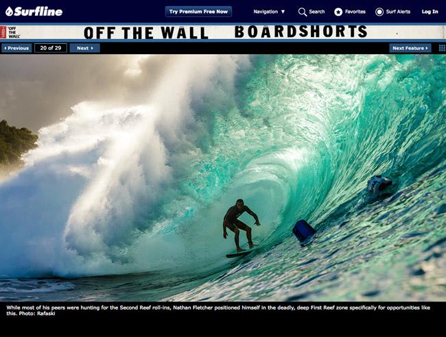 nathan fletcher deep at first reef on surfline news