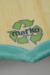 bamboo veneer, pigmented epoxy color lamination and marko eps foam core.
